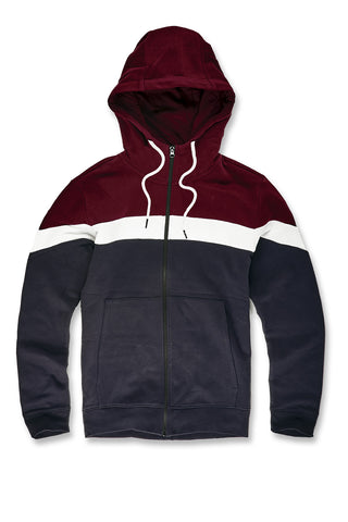 Varick Fleece Zip Up Hoodie (Navy)