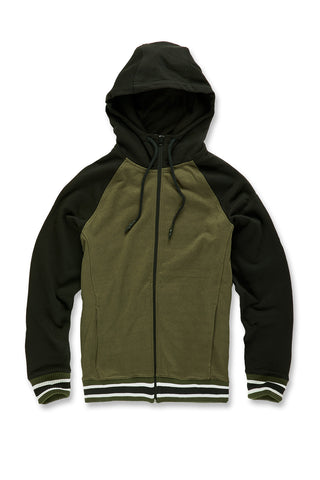 Jordan Craig - Fairfax Zip Up Hoodie (Dark Olive)