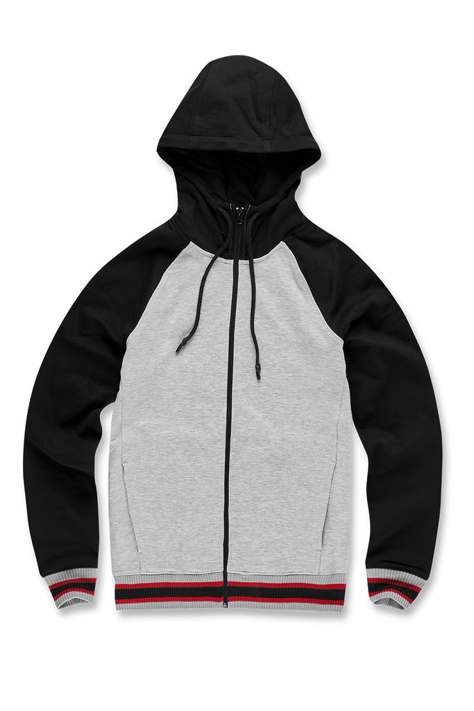 Jordan Craig - Fairfax Zip Up Hoodie (Heather Grey)