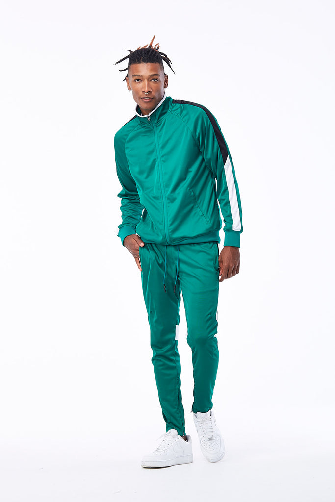 Jordan Craig - Havana Track Jacket (Money Green)