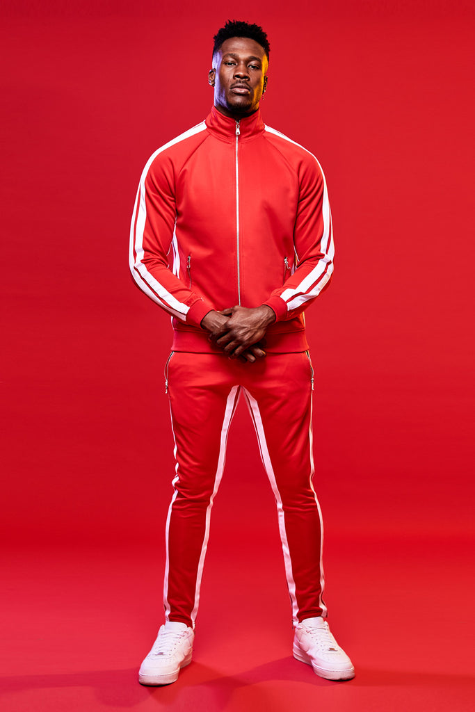 Jordan Craig - Oxford Track Top (Red)