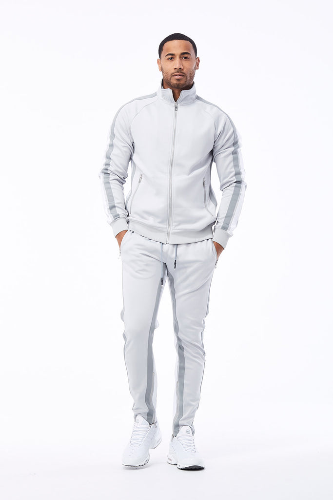 Oxford Track Pants (Metallic Silver)
