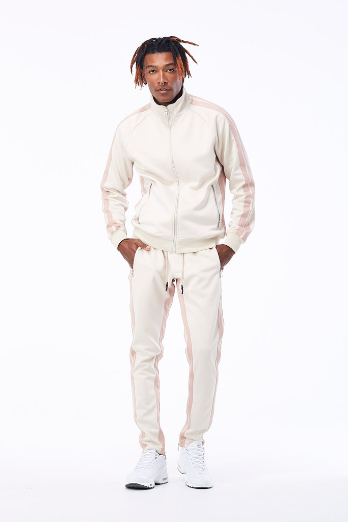 Jordan Craig - Oxford Track Top (Plush Cream)
