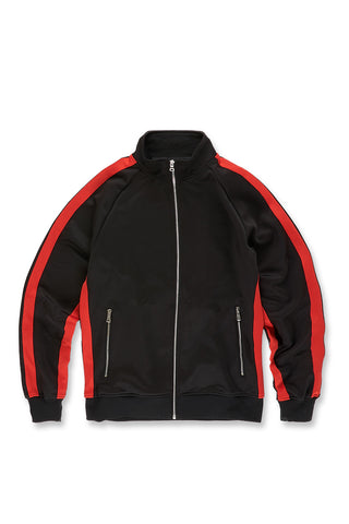 Jordan Craig - Oxford Track Top (Black Infrared)