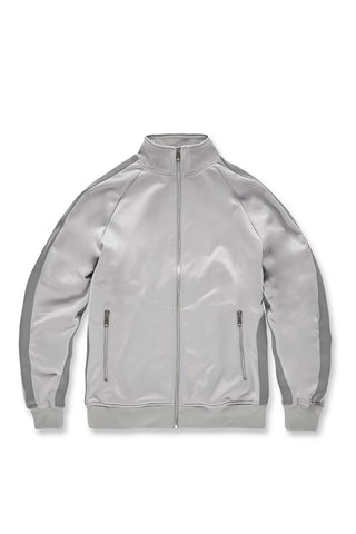 Oxford Track Top (Metallic Silver)