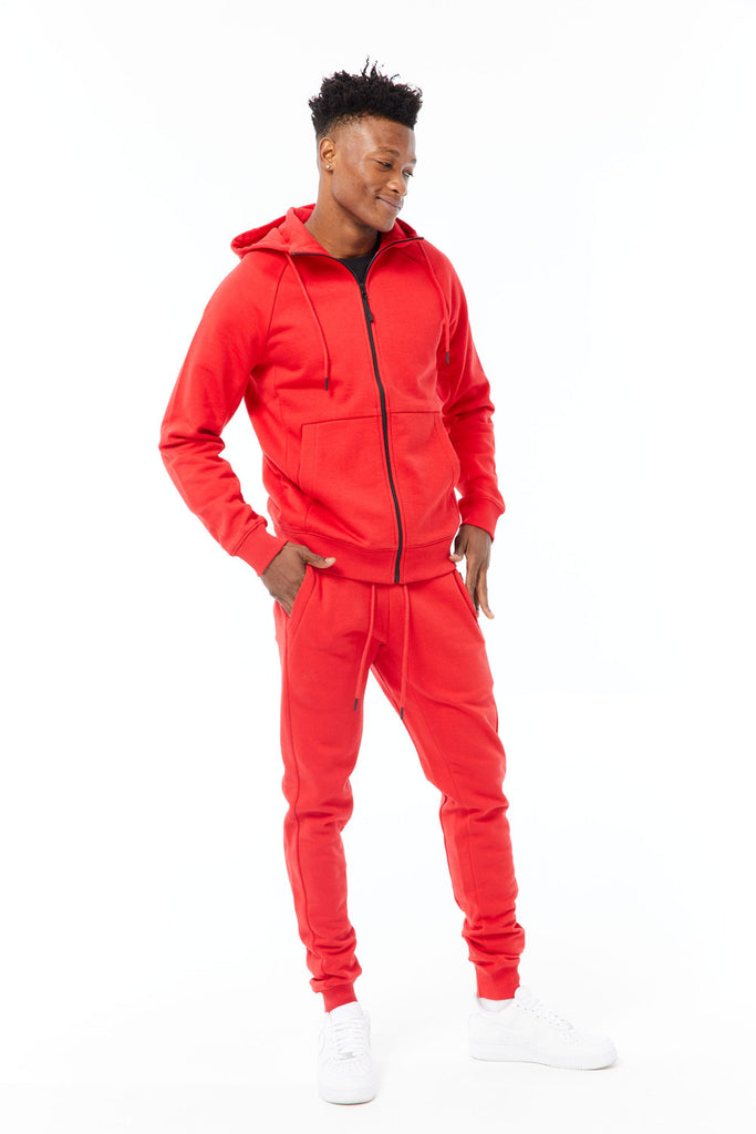 Uptown Zip Up Hoodie (Red)