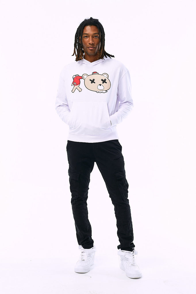 Decapitated Plush Bear Pullover Hoodie (White)
