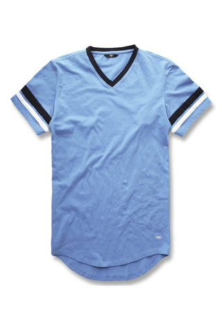 Torino Premium V-Neck T-Shirt (Carolina Blue)