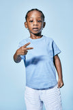 Jordan Craig - Kids Scallop T-Shirt (Baby Blue)