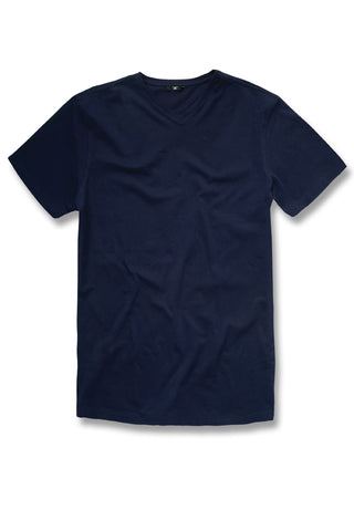 Premium V-Neck T-Shirt (Navy)