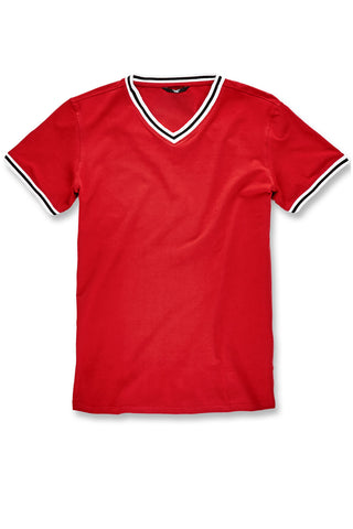 Jordan Craig - Fairfax Premium V-Neck T-Shirt (Red)