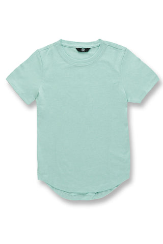 Kids Melange Scallop T-Shirt (Mint)