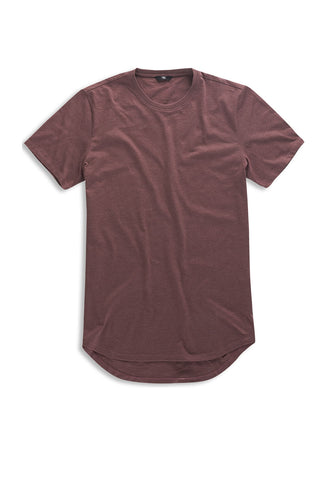 Melange Scallop T-Shirt (Dark Rose)