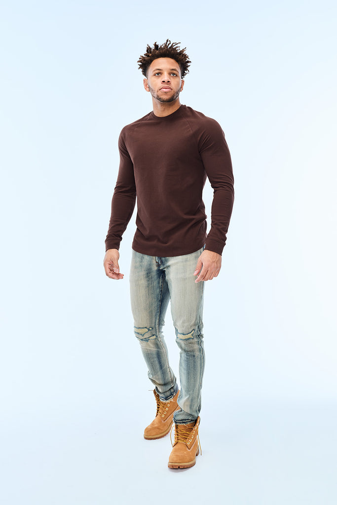 Jordan Craig - Bushwick Raglan Top (Brown)