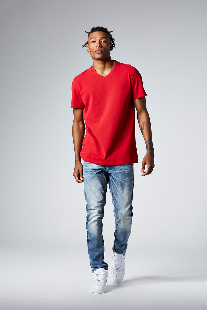 Jordan Craig - Premium V-Neck T-Shirt (Red)