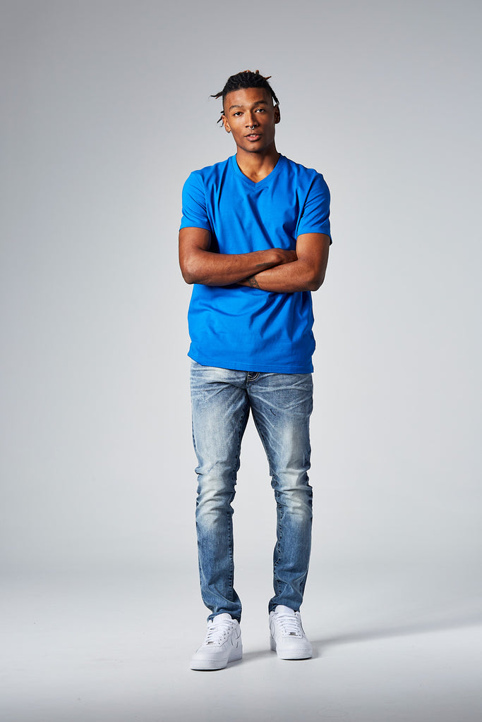 Jordan Craig - Premium V-Neck T-Shirt (Royal)
