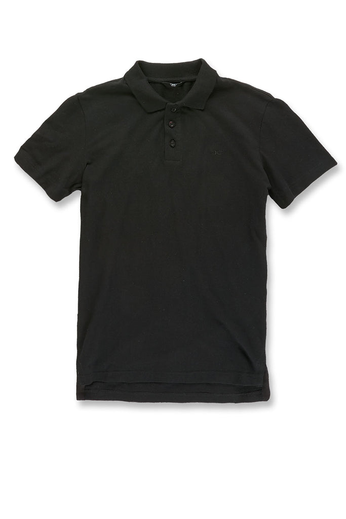Jordan Craig - Premium Pique Polo Shirt (Black)