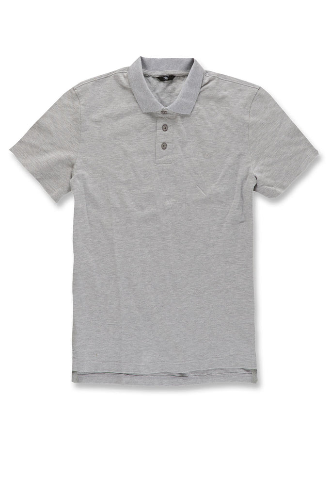 Jordan Craig - Premium Pique Polo Shirt (Heather Grey)