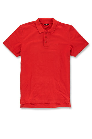 Jordan Craig - Premium Pique Polo Shirt (Red)