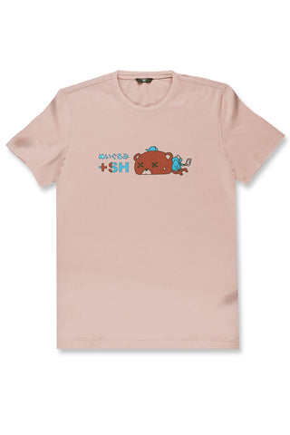 Jordan Craig - Plush Bear Graphic T-Shirt (Blush)