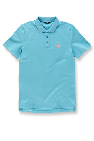 Plush Bear Polo Shirt (Blue Coral)