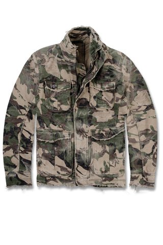 Camouflage Distressed Field Jacket