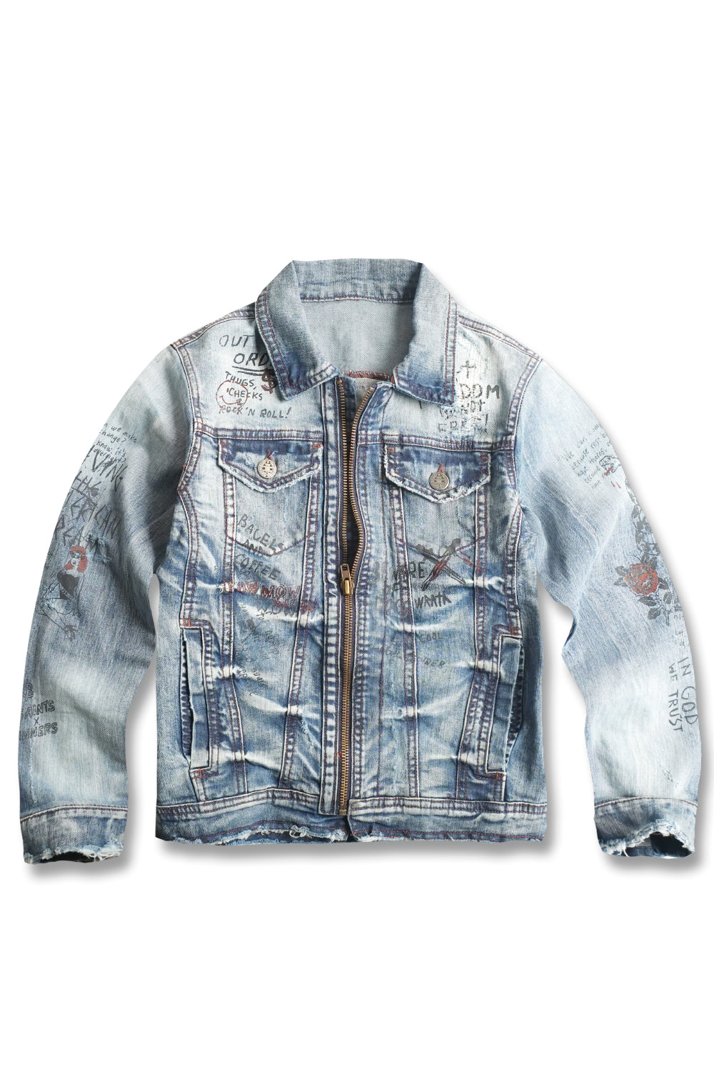 Jordan Craig - Kids Doodle Denim Jacket (Aged Wash)