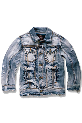 Kids Classic Denim Trucker Jacket (Aged Wash)