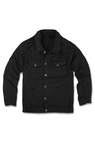 Jordan Craig - Kids Louisville Distressed Trucker Jacket (Black)