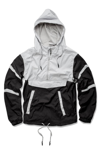 Jordan Craig - Pullover Striped Windbreaker (Black)