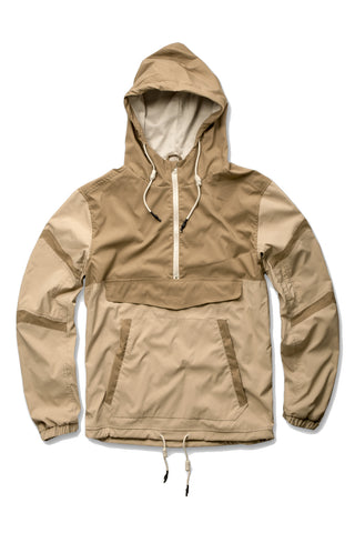 Jordan Craig - Pullover Striped Windbreaker (Khaki)