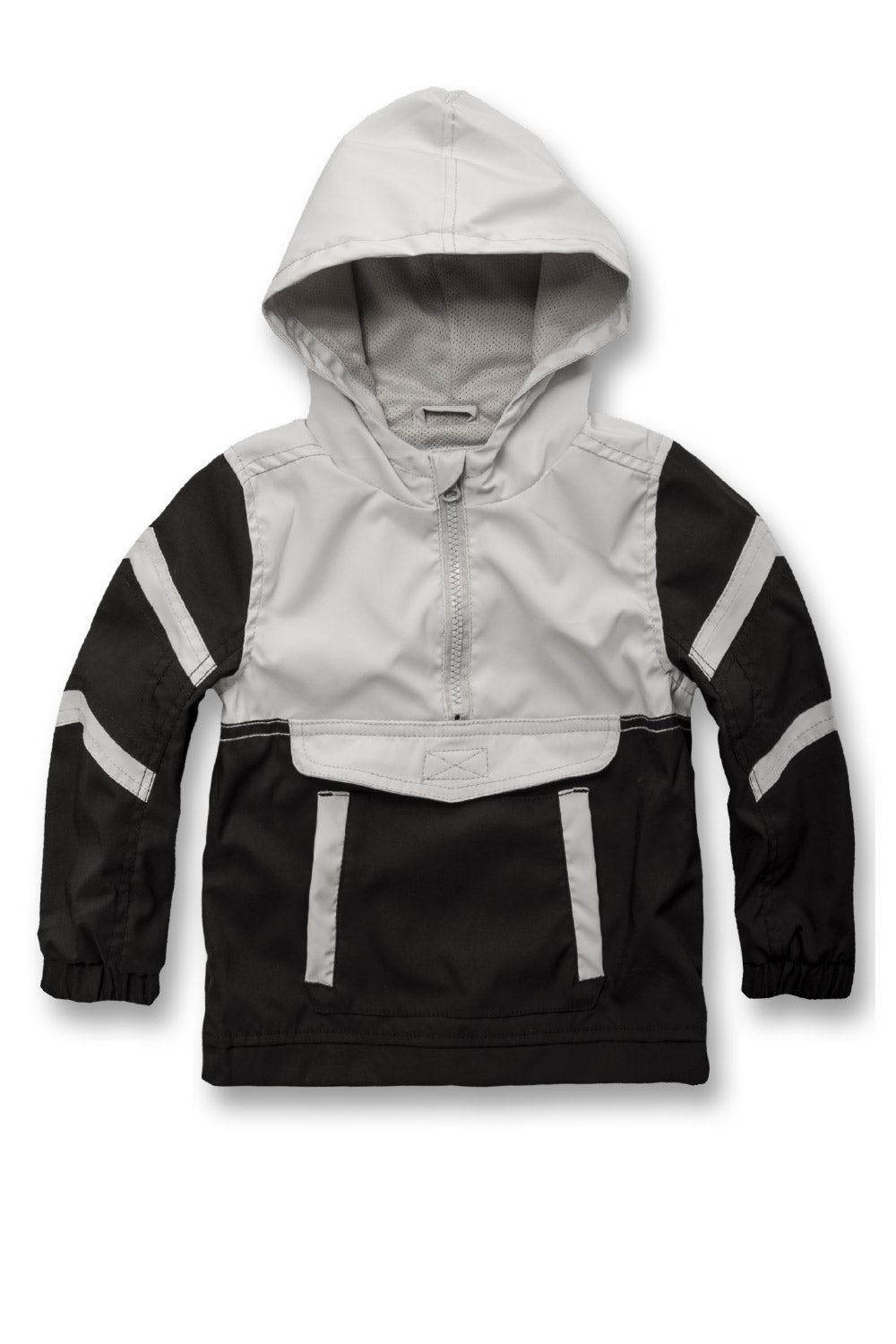Jordan Craig - Kids Pullover Striped Windbreaker (Black)