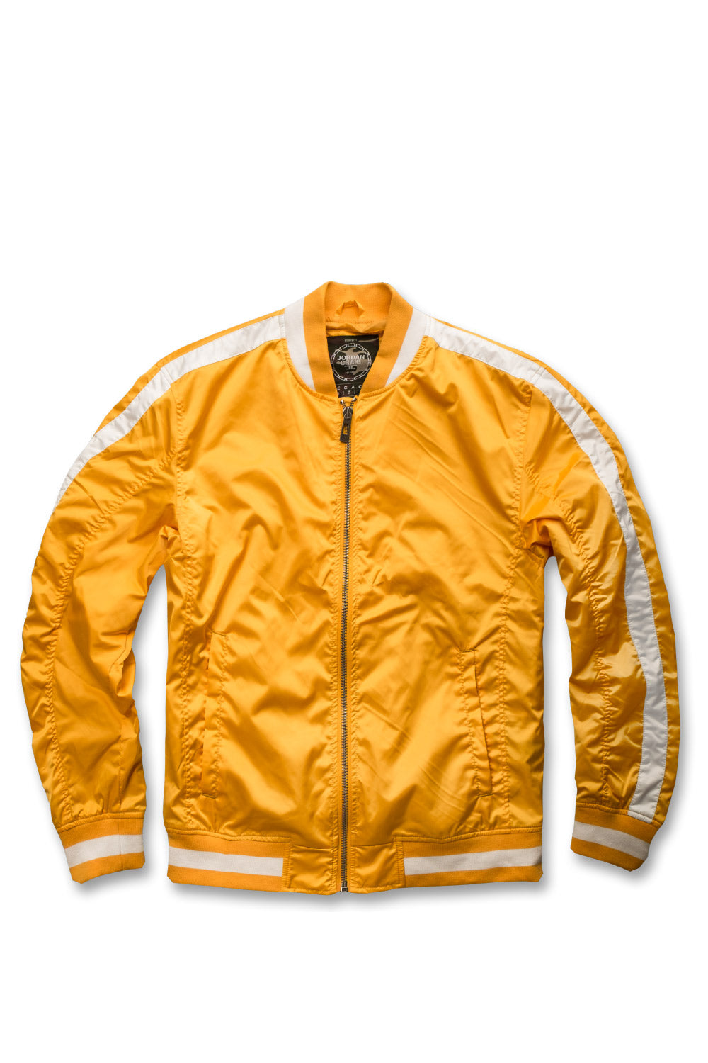 Jordan Craig - Contrast Stripe Bomber Jacket (Laser Orange)