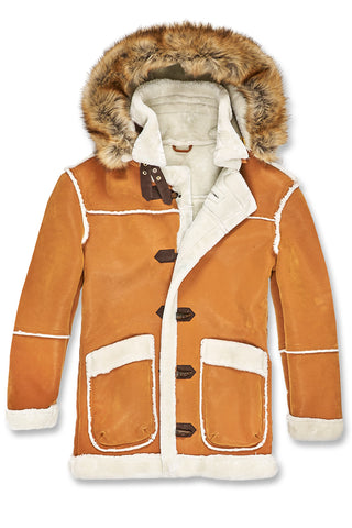 Jordan Craig - Big Men's Denali Shearling Jacket (Burnt Orange)
