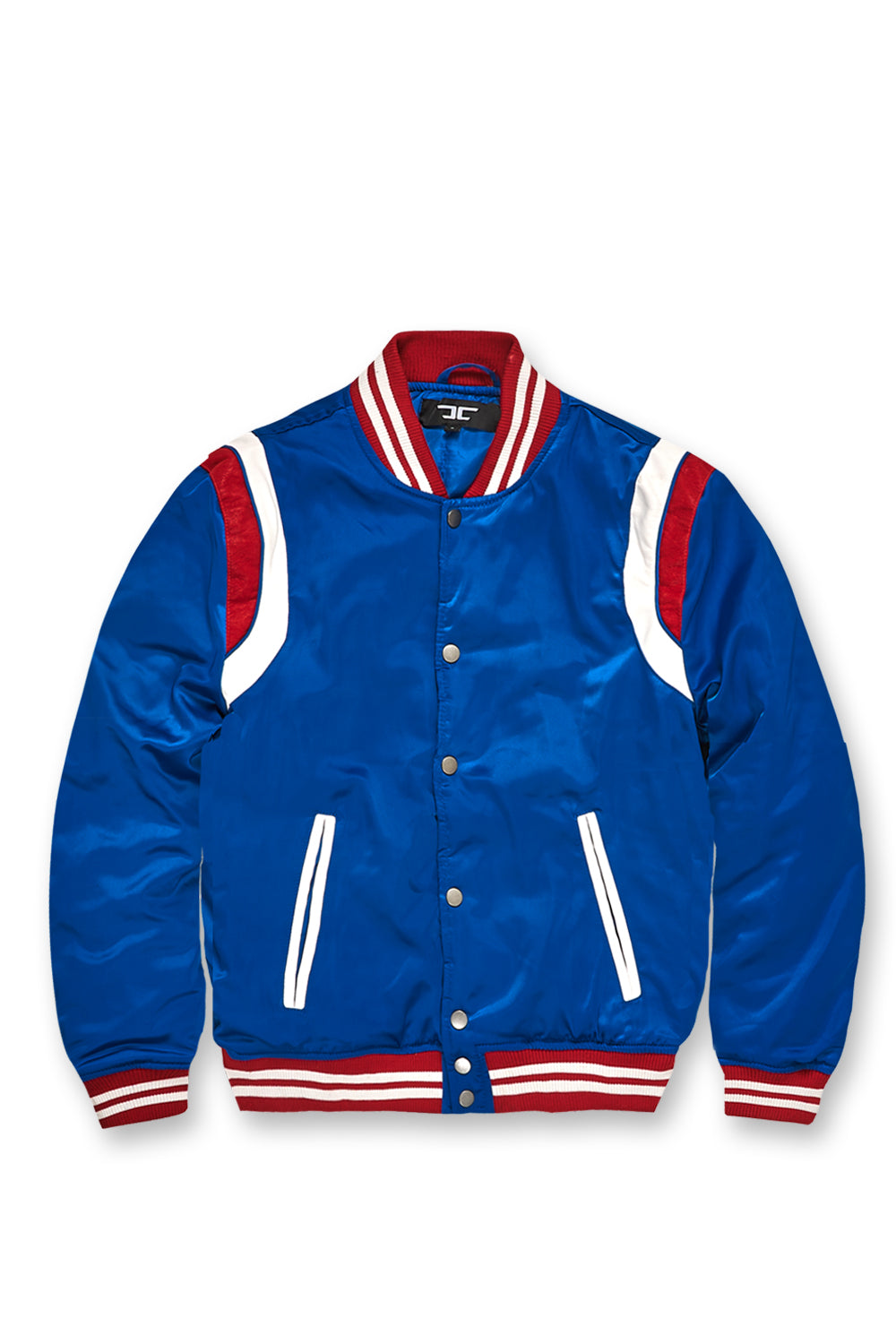 Jordan Craig - Geneva Satin Varsity Jacket (Royal)