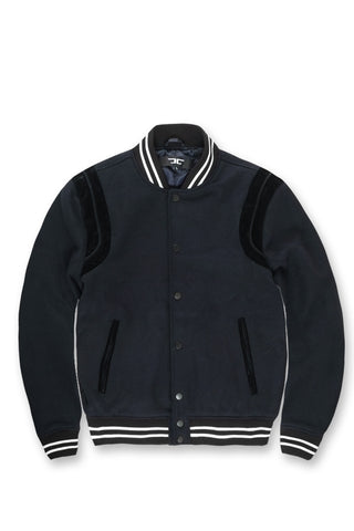 Madison Wool Varsity Jacket (Navy)