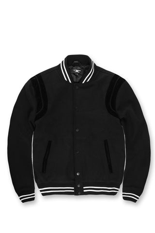 Jordan Craig - Madison Wool Varsity Jacket (Black)