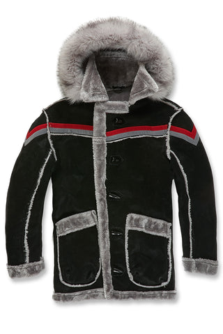 Tuscany Striped Shearling Jacket (Black Shadow)