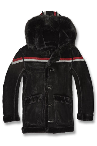 Jordan Craig - Big Men's Tuscany Striped Shearling Jacket (Black)