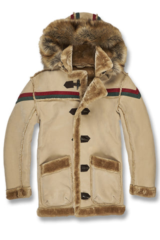 Jordan Craig - Big Men's Tuscany Striped Shearling Jacket (Latte)