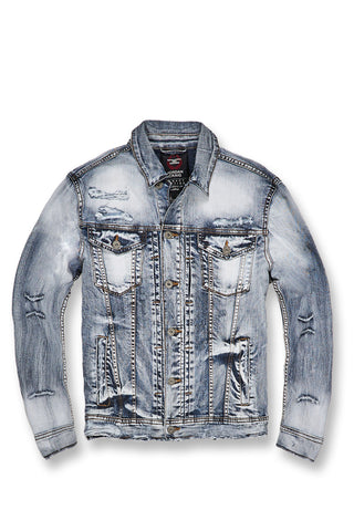 Jordan Craig - Mercer Pleated Denim Jacket (Aged Wash)