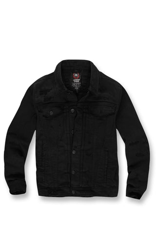 Jordan Craig - Mercer Pleated Denim Jacket (Onyx)