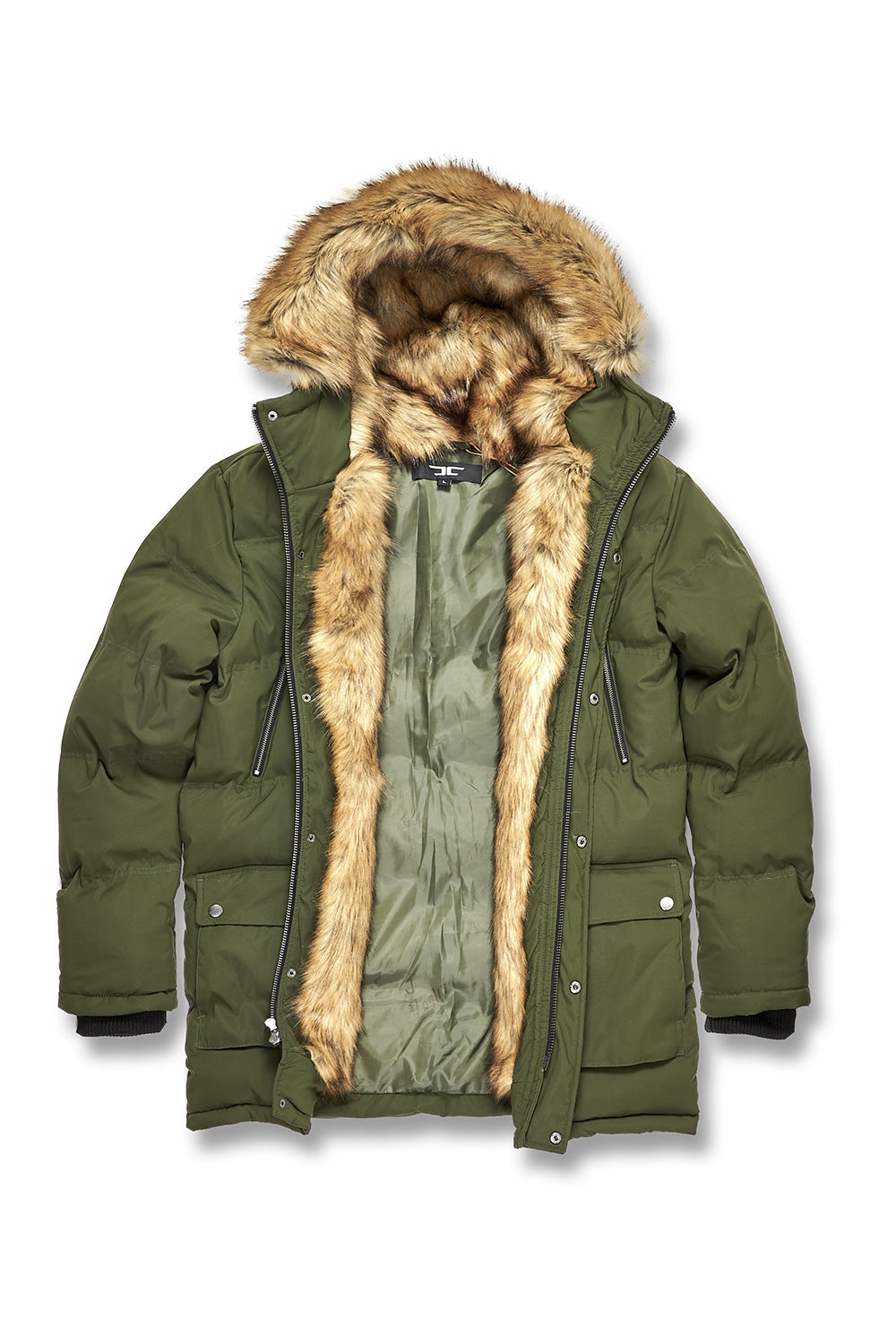 2f1c60532631 Fargo Fur Lined Quilted Parka (Army Green) – Jordan Craig