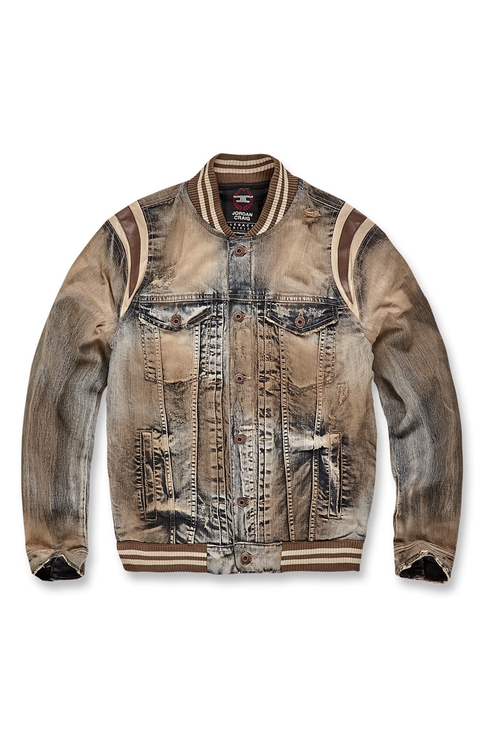 Jordan Craig - Barcelona Denim Varsity Jacket (Copper Wash)