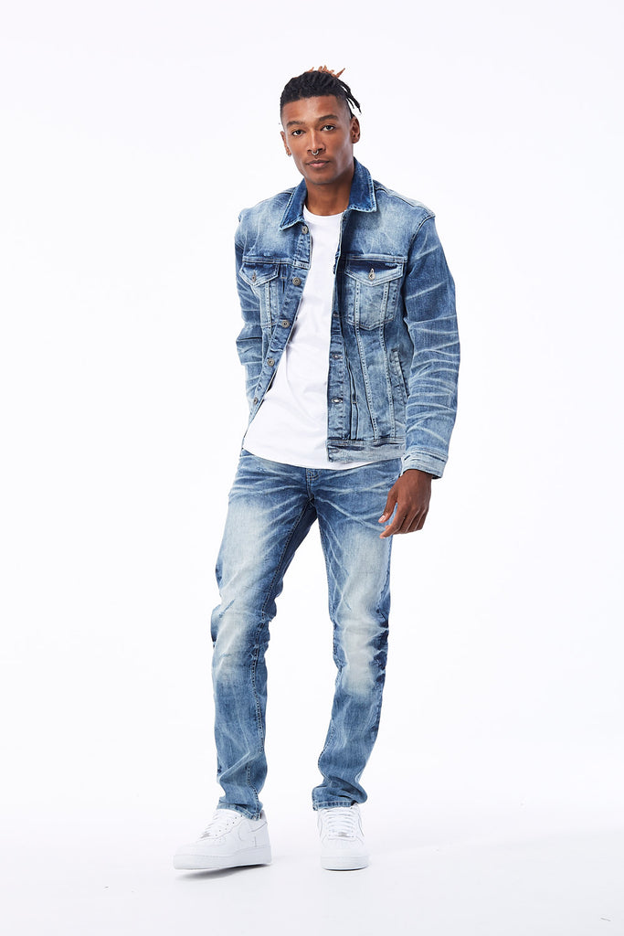Jordan Craig - Austin Denim Trucker Jacket (Arctic Wash)