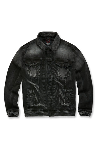 Shanghai Denim Trucker Jacket (Black Shadow)
