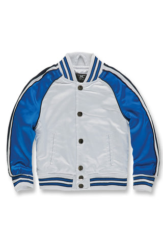 Jordan Craig - Kids Cooperstown Bomber Jacket (Royal)