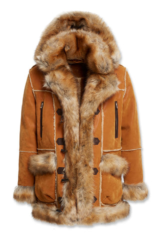 Big Men's Aspen Shearling Jacket (Cognac)