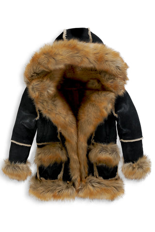 Kids Aspen Shearling Jacket (Black Copper)