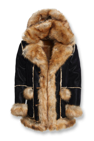 Aspen Shearling Jacket (Black Copper)
